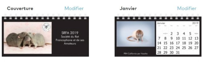 Calendrier SRFA 2019 : preview et commande